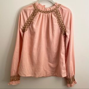 Faherty NWT Dusty Pink Arles Blouse